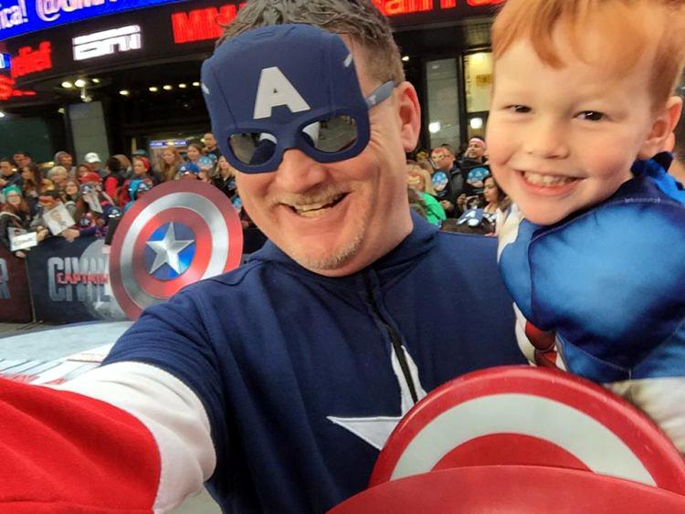 superhero dad Chad MacDonald and son Dove Real Strength