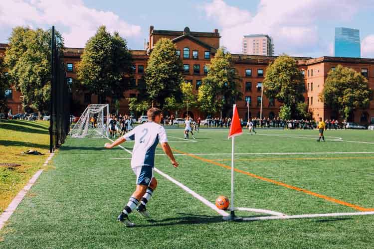 youth soccer urban corner kick