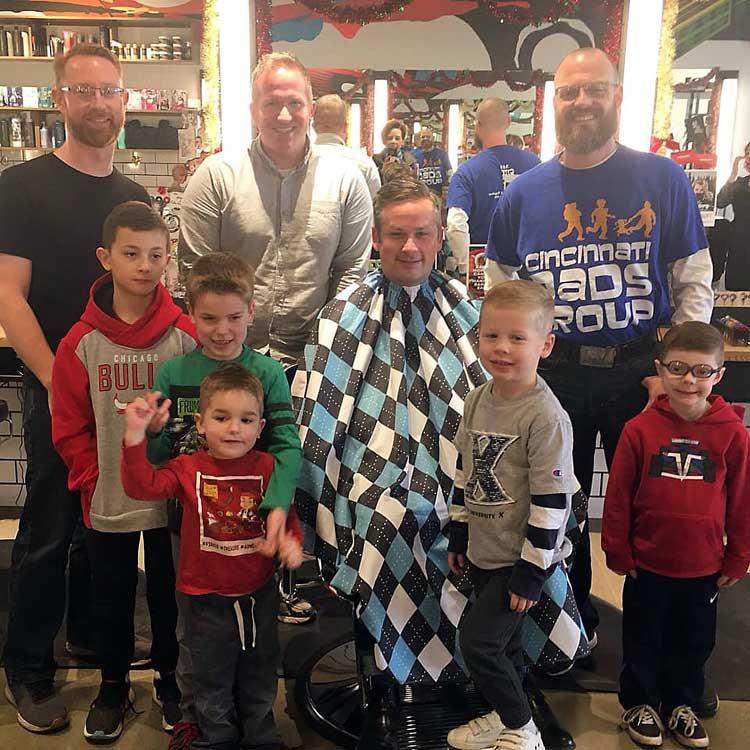 cincinatti dads group holiday shear dove men+care bishops